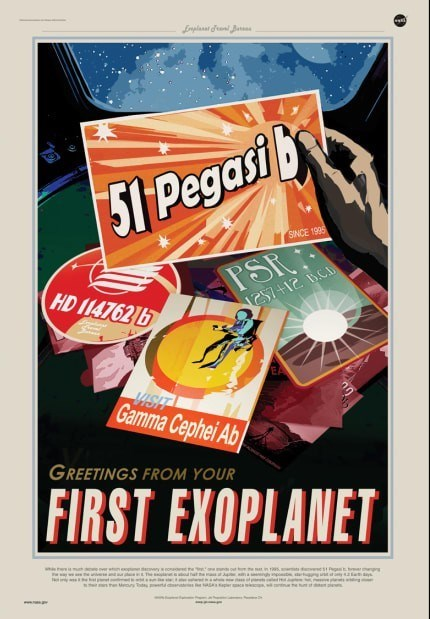nasa poster postcards greetings from your first exoplanet
