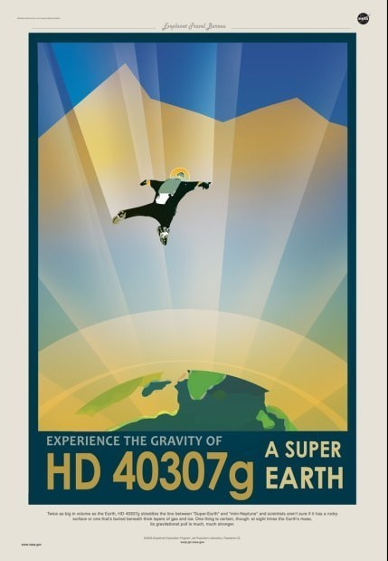 nasa poster for exoplanet travel hd 40307g super earth