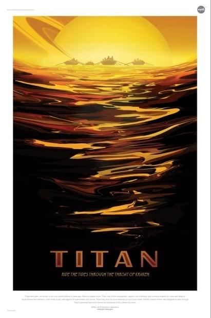 nasa mock horror poster for exoplanet titan