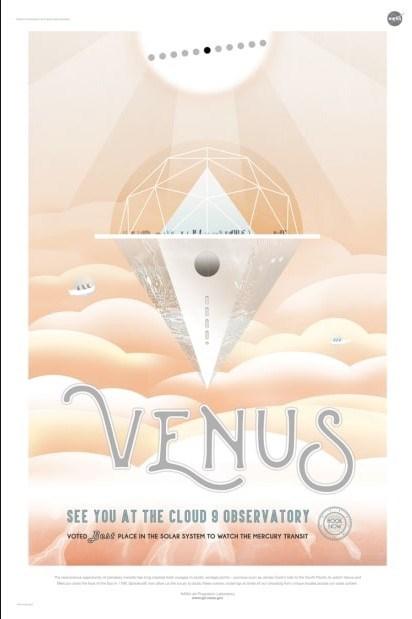 nasa pretend travel poster for venus