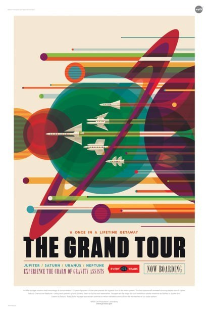 nasa mock poster sci fi travel other planets grand tour