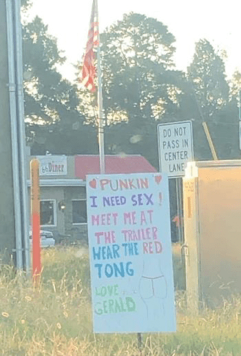 Grass - DO NOT PASS IN CENTER LANE eDiner PUNKIN I NEED SEX HEET ME AT THE TRAILER WEAR THE RED TONG LOVE GERALD