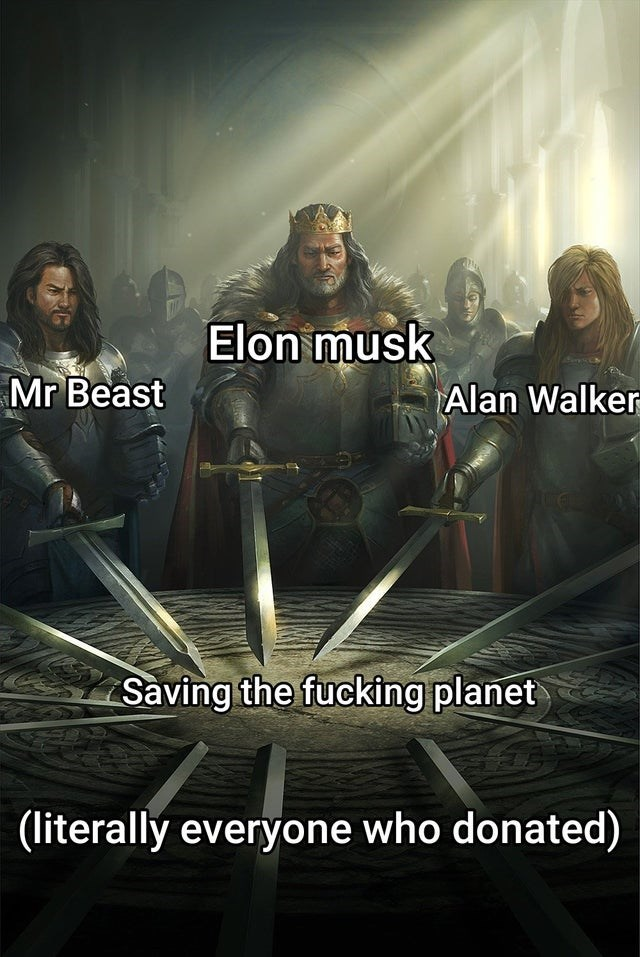 Movie - Elon musk Mr Beast Alan Walker Saving the fucking planet |(literally everyone who donated)