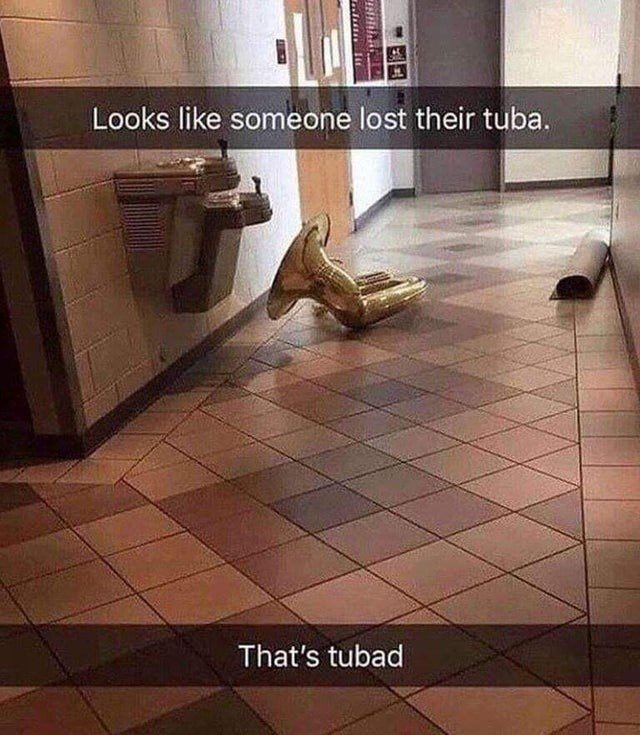 Tile - Looks like someone lost their tuba. That's tubad