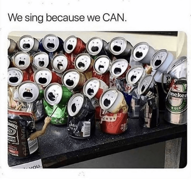 Product - We sing because we CAN. neker QUALRIT en NQU ON