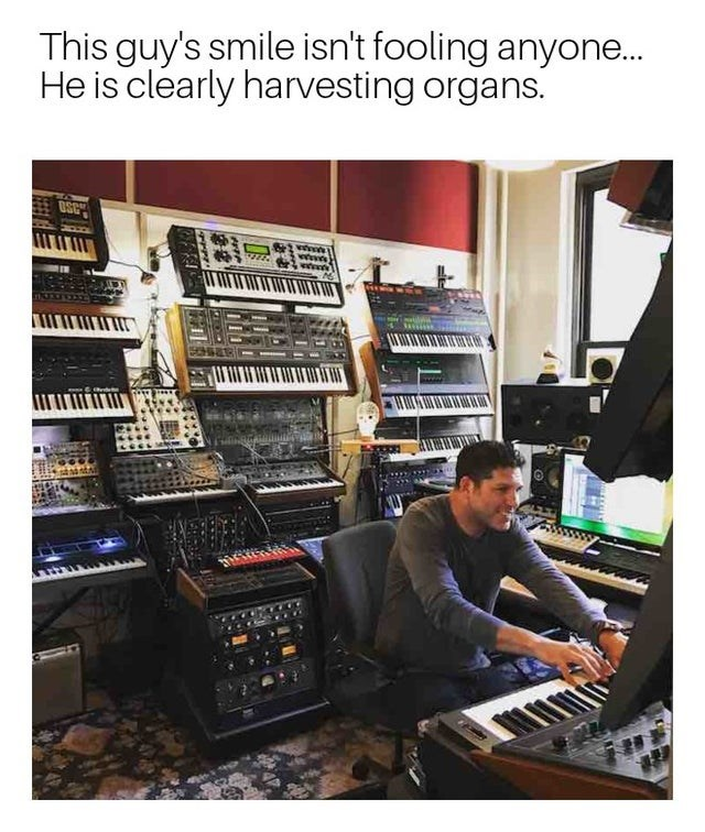 Electronic instrument - This guy's smile isn't fooling anyone... He is clearly harvesting organs. OSC w