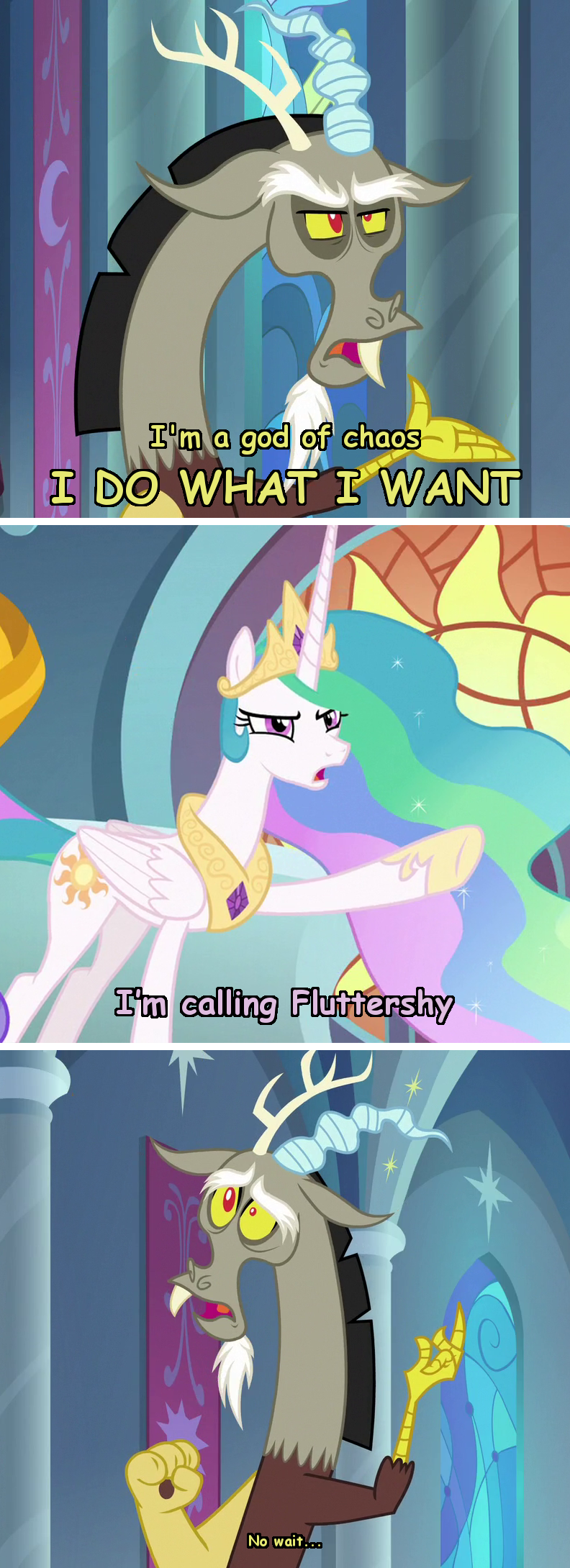 incorrect my little pony quotes discord screencap the ending of the end princess celestia - 9383008256
