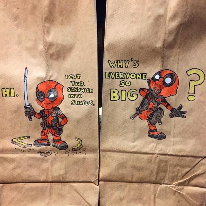 Deadpool - WHY'S EVERYONE So OCUT YOUR SANDWICH ONTO SHAPES. HO. BIG