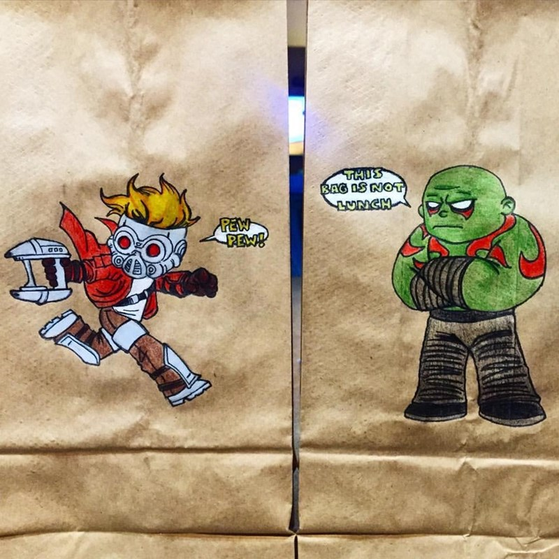 Fictional character - THUS BAG IS NOT LUNCH PEW PEN!