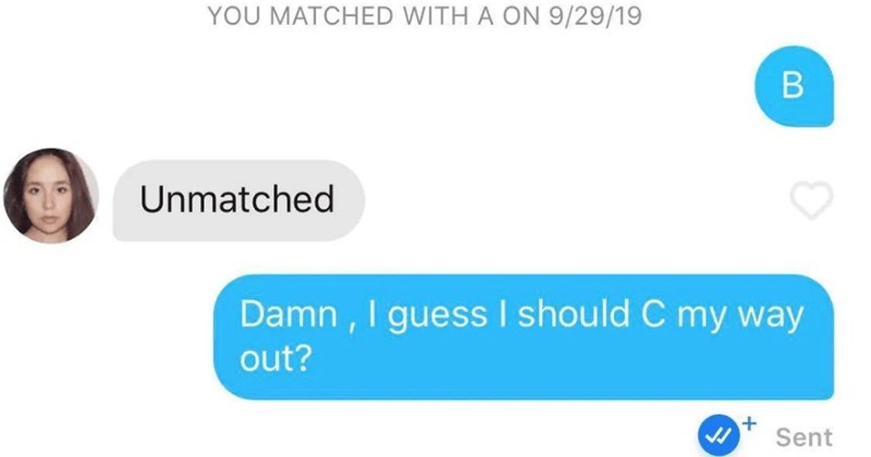 A collection of witty Tinder pickup lines.