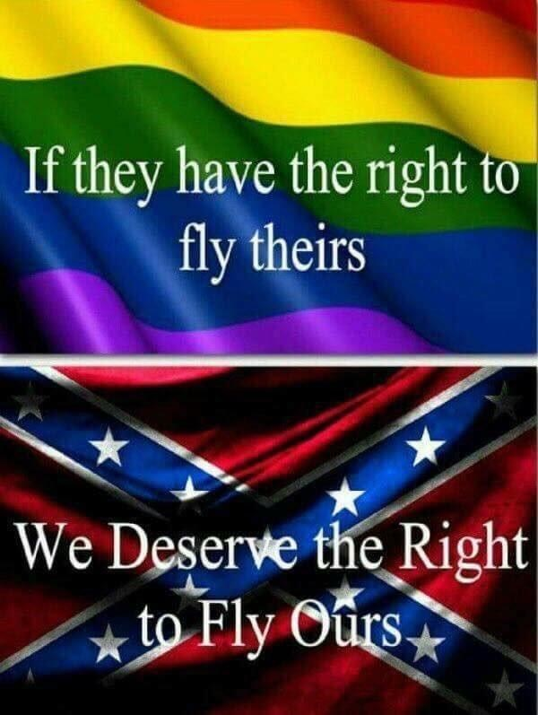 Flag - If they have the right to fly theirs We Deserve the Right to Fly Ours.
