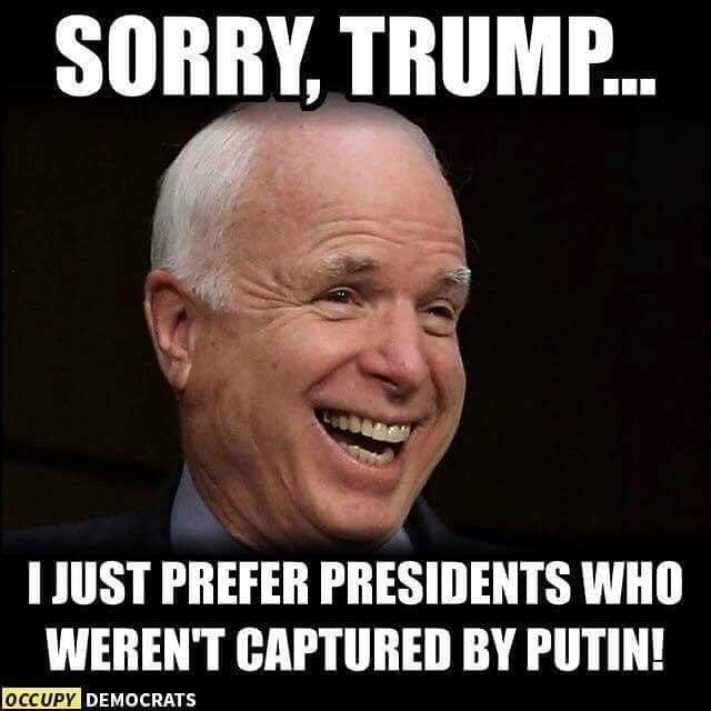 Facial expression - SORRY, TRUMP.. IJUST PREFER PRESIDENTS WHO WEREN'T CAPTURED BY PUTIN! OCCUPY DEMOCRATS