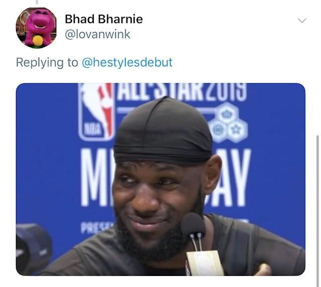 Cap - Bhad Bharnie @lovanwink Replying to @hestylesdebut ALL'STARZU1S M AY PRESE