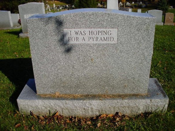 Headstone - EAR I WAS HOPING FOR A PYRAMID