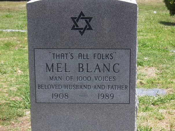 Grave - THAT'S ALL FOLKS MEL BLANC MAN OF 1000 VOICES BELOVED HUSBAND AND FATHER 1908 1989