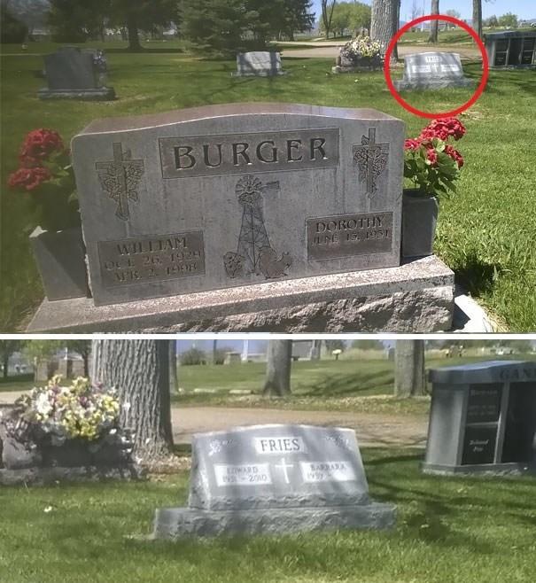Grave - BURGER DOROTIHY WILLIAM 96 26. 1928 AF 2 199 FRIES SARBA N 2010