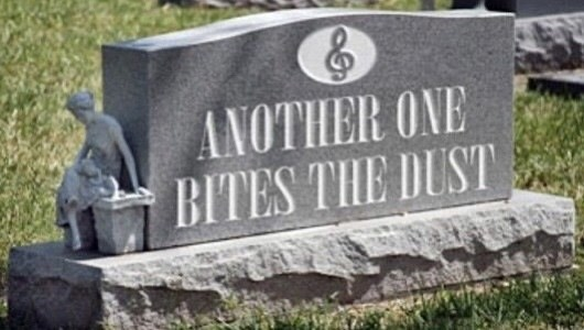 Headstone - ANOTHER ONE BITES THE DUST