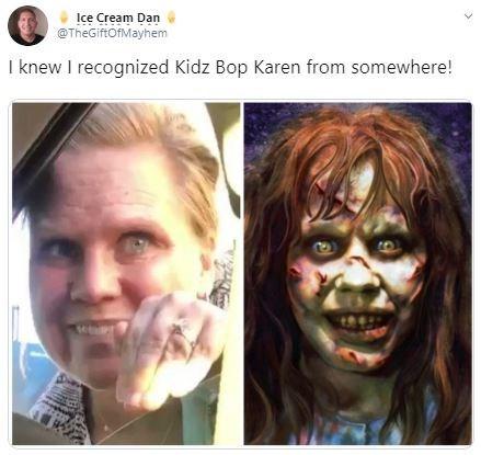 Face - Ice Cream Dan @TheGiftOfMayhem I knew I recognized Kidz Bop Karen from somewhere!