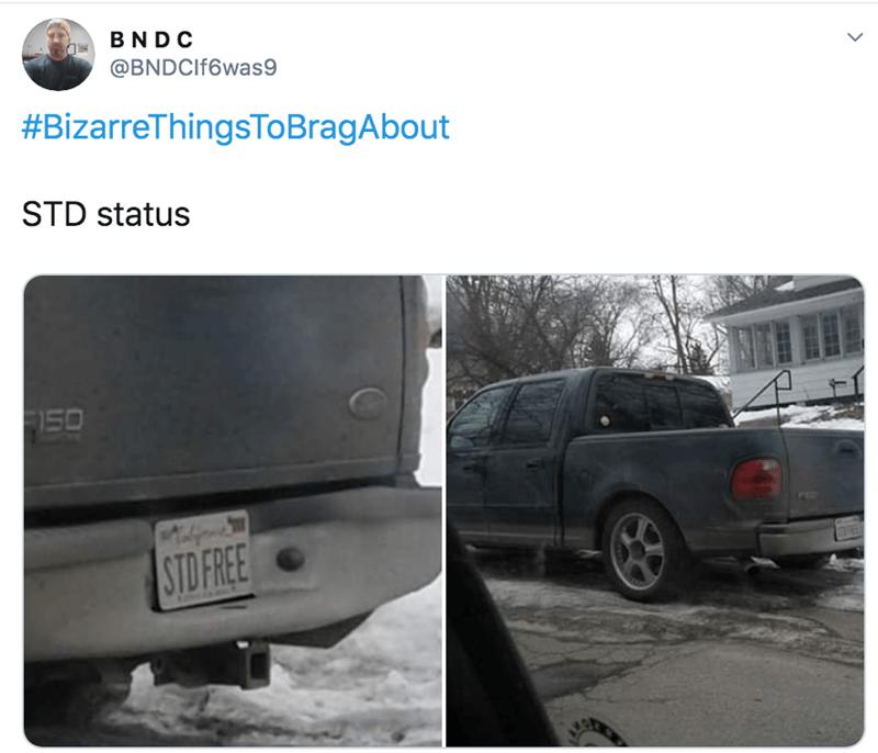 Car - BND C @BNDCIf6was9 #BizarreThingsToBragAbout STD status 150 STO FREE