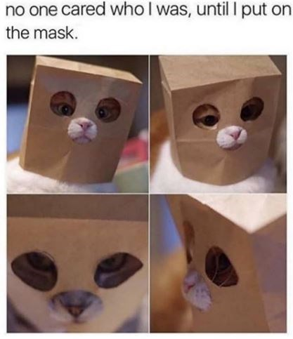 Cat - no one cared who I was, until I put on the mask