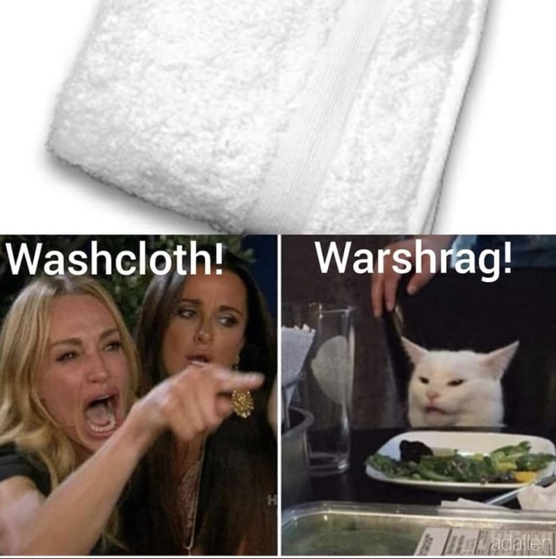 Cat - Warshrag! Washcloth! adaller