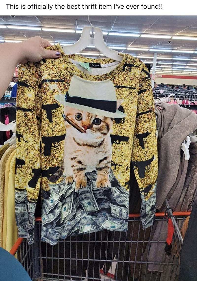 Clothing - This is officially the best thrift item I've ever found!! nock ENS