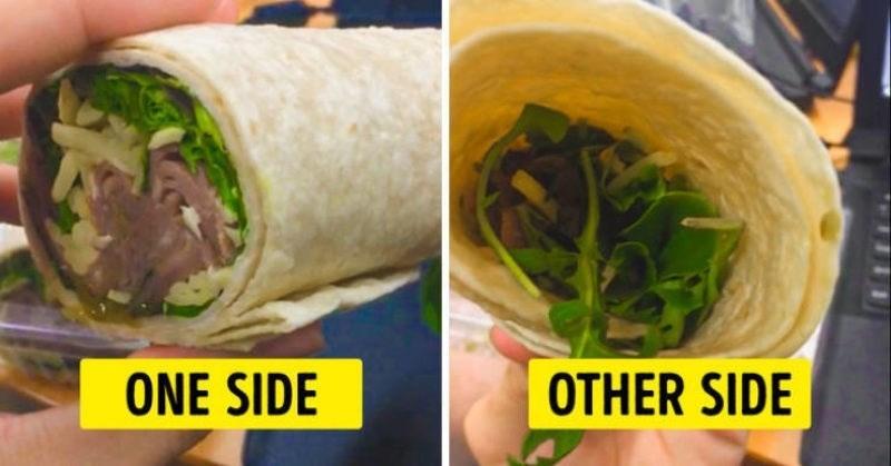 Sandwich wrap - ONE SIDE OTHER SIDE
