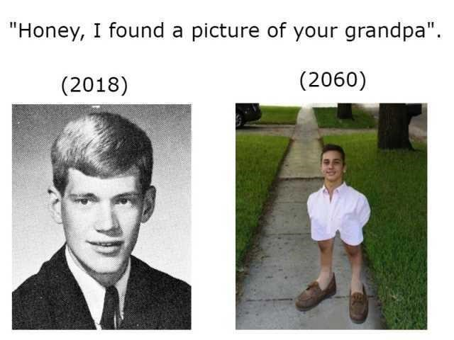 """Facial expression - """"Honey, I found a picture of your grandpa"""" (2060) (2018)"""