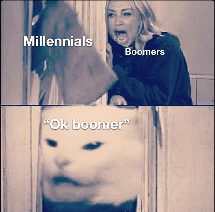 "Facial expression - Millennials Boomers ""Ok boomer""5"