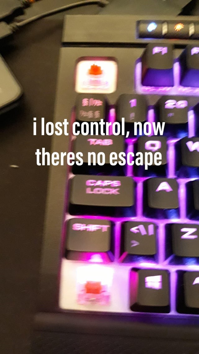 Product - i lost control, now theres no escape CAPS LOCK SHFT N