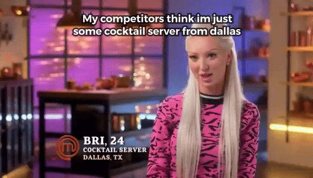 Newscaster - My competitors think im just some cocktailserver from dallas BRI,24 TCOCKTAIL SERVER DALLAS, TX