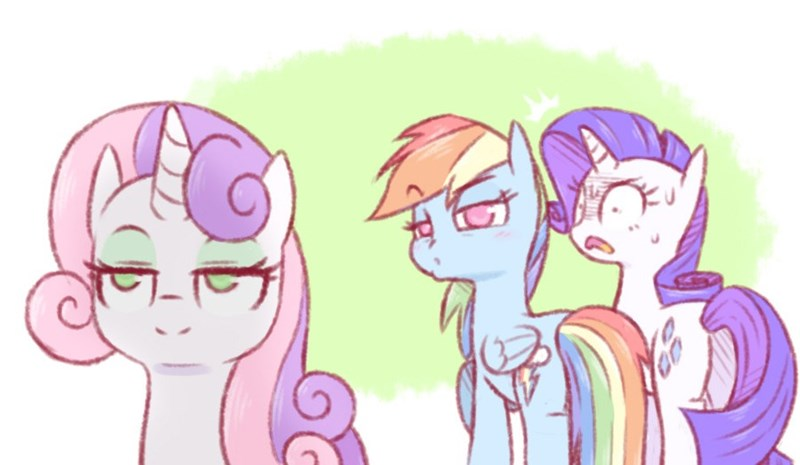 distracted boyfriend Sweetie Belle growing up is hard to do Memes rarity raridash doodles rainbow dash - 9385005824