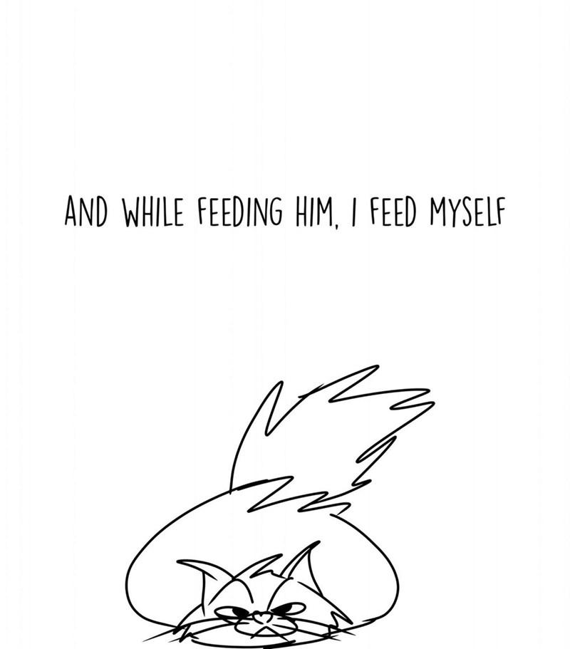 White - AND WHILE FEEDING HIM, I FEED MYSELF