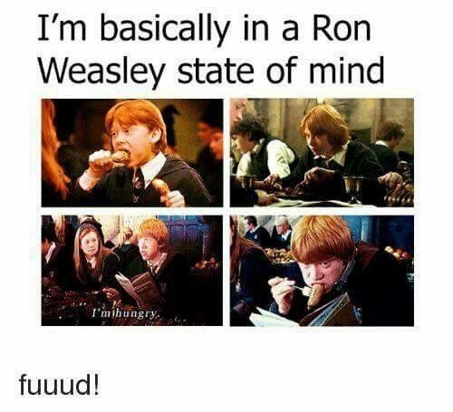 Human - I'm basically in a Ron Weasley state of mind I'mihungry fuuud!