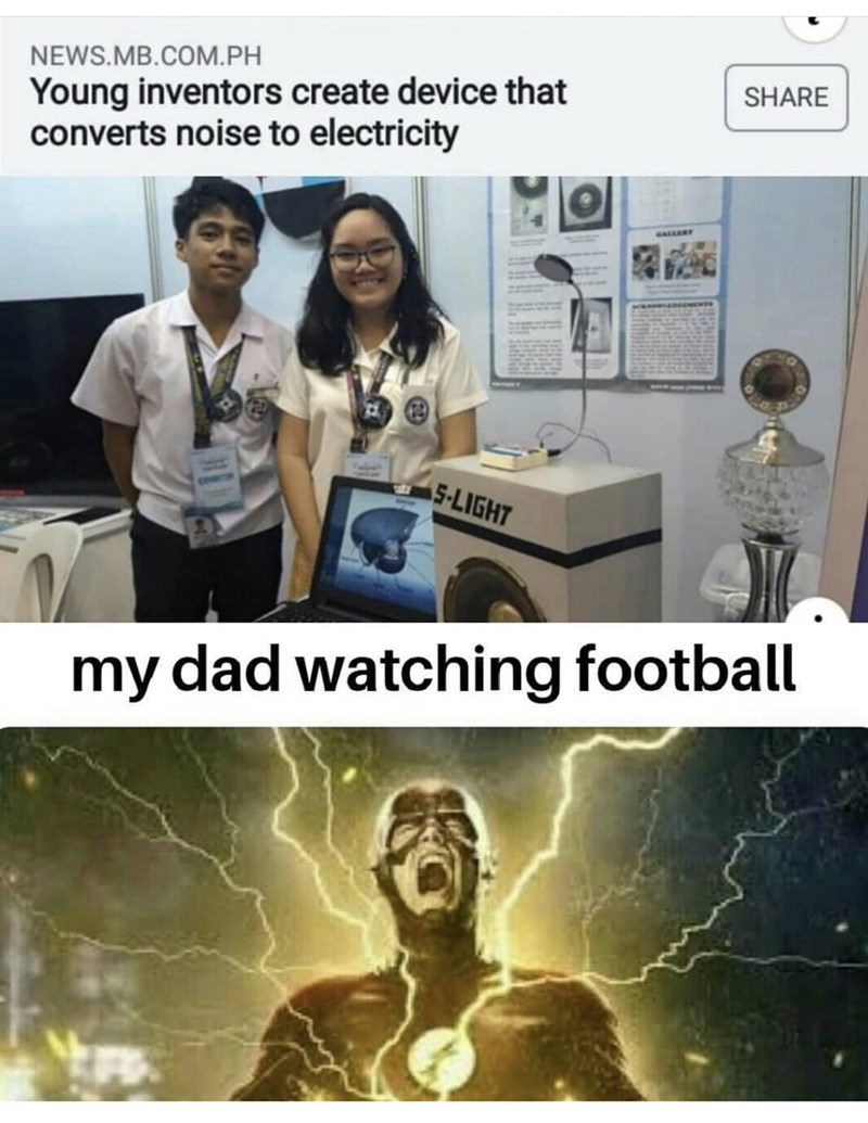 Technology - NEWS.MB.COM.PH Young inventors create device that converts noise to electricity SHARE GALLERY 5-LIGHT my dad watching football