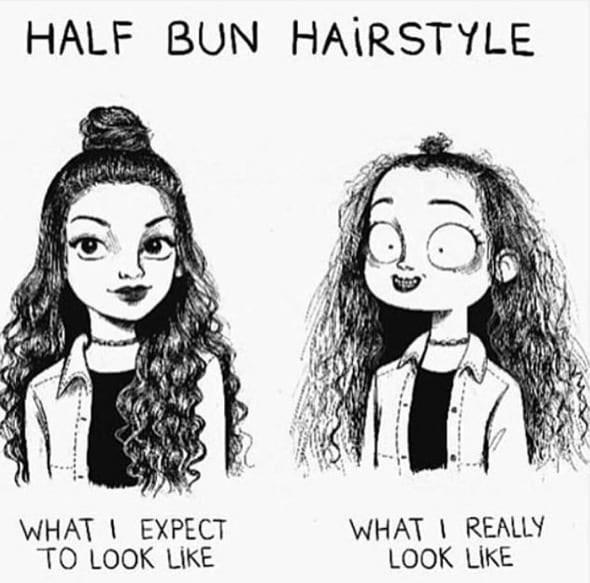 Hair - HALF BUN HAIRSTYLE WHATI REALLY LOOK LIKE WHATI EXPECT TO LOOK LIKE