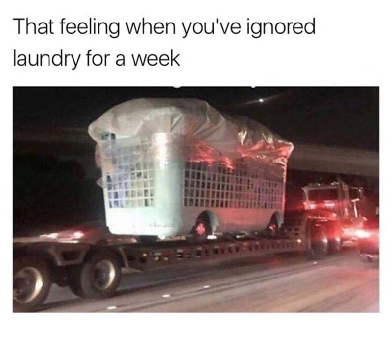 Transport - That feeling when you've ignored laundry for a week