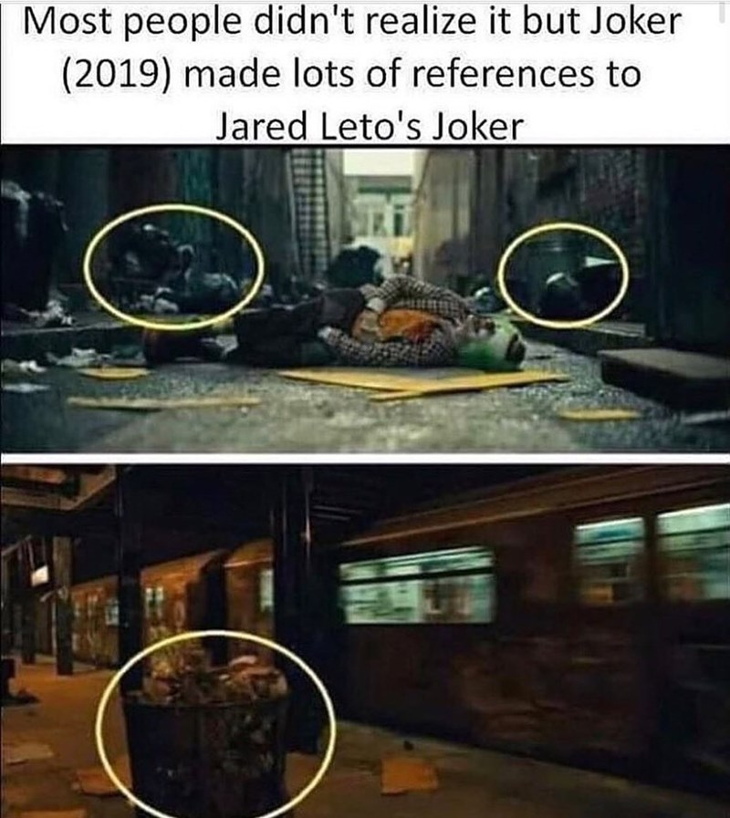 Room - Most people didn't realize it but Joker (2019) made lots of references to Jared Leto's Joker