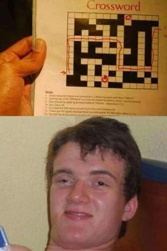 Forehead - Crossword