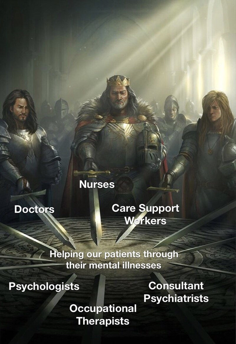 Movie - Nurses Care Support Workers Doctors Helping our patients through their mental illnesses Consultant Psychologists Psychiatrists Occupational Therapists