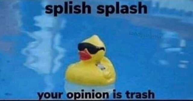 rubber ducky - splish splash your opinion is trash