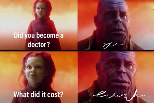 Funny meme about how doctors have bad handwriting