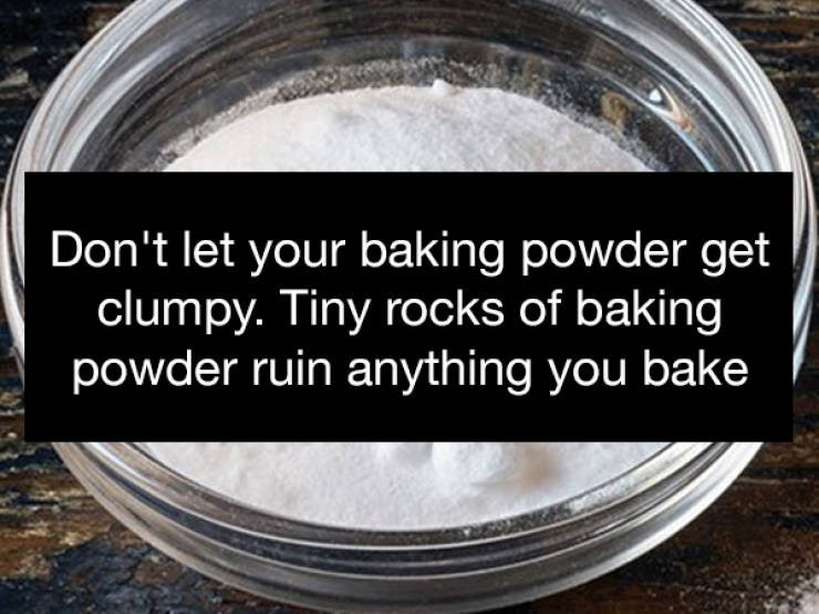 Product - Don't let your baking powder get clumpy. Tiny rocks of baking powder ruin anything you bake