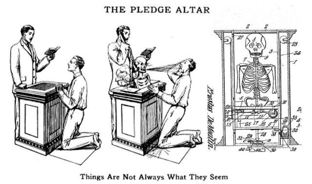 Cartoon - THE PLEDGE ALTAR 27 -24 36 39 40. Things Are Not Always What They Seem Erastus DeMonin