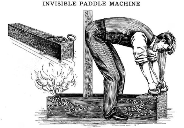 Cartoon - INVISIBLE PADDLE MACHINE