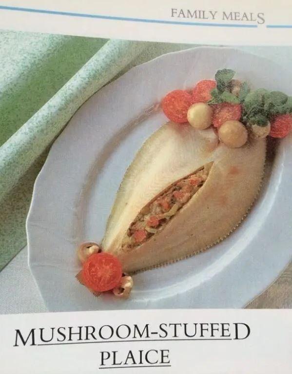 Food - FAMILY MEALS MUSHROOM-STUFFED PLAICE