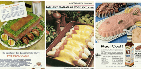 Dish - CONTEMPOAY COOKNO AM AND BANANAS HOLLANDAISE Real Cool s exciking! delicioua! s eay! rrS FROM CANSI ReeCwe C MCals