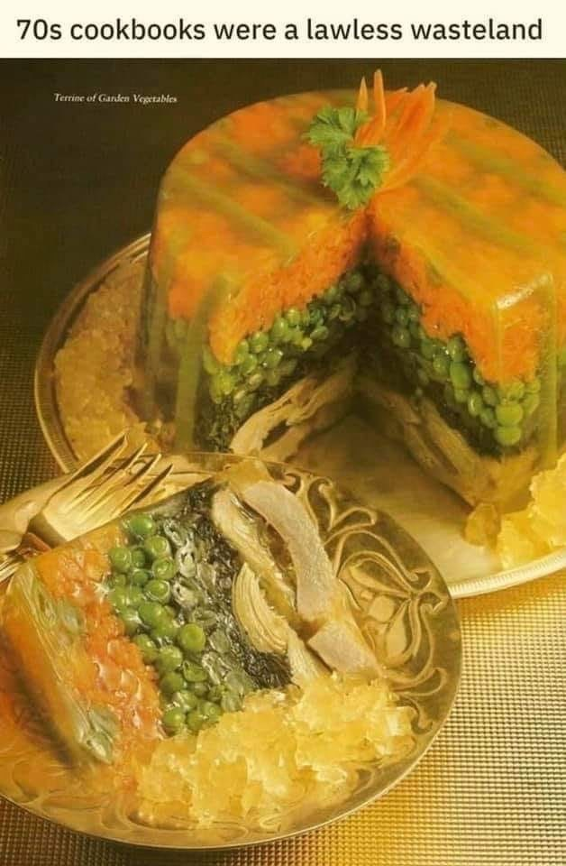 Food - 70s cookbooks were a lawless wasteland Terrine of Garden Vegetables