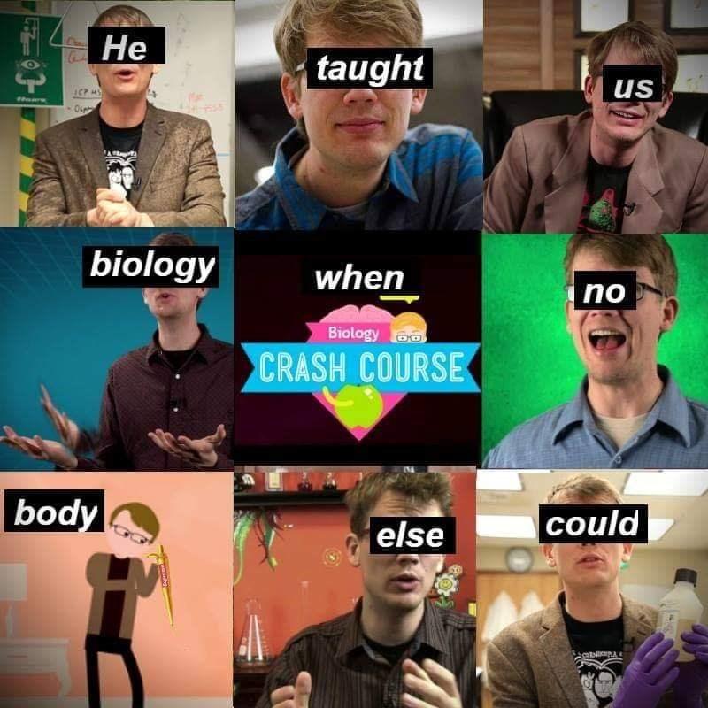 Cool - Не taught T us 0seta biology when nо Biology CRASH COURSE body could else