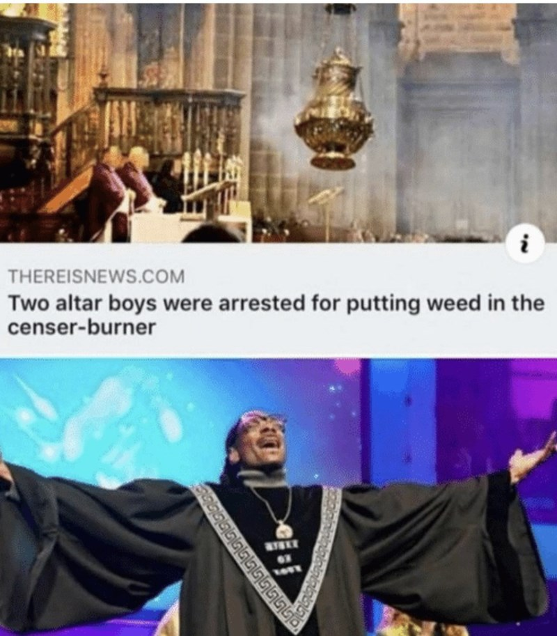 Outerwear - THEREISNEWS.COM Two altar boys were arrested for putting weed in the censer-burner இ